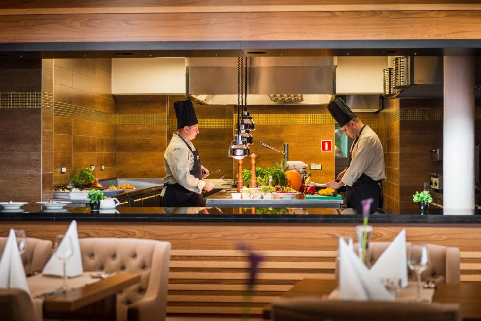 Kuchnia w restauracji Panorama