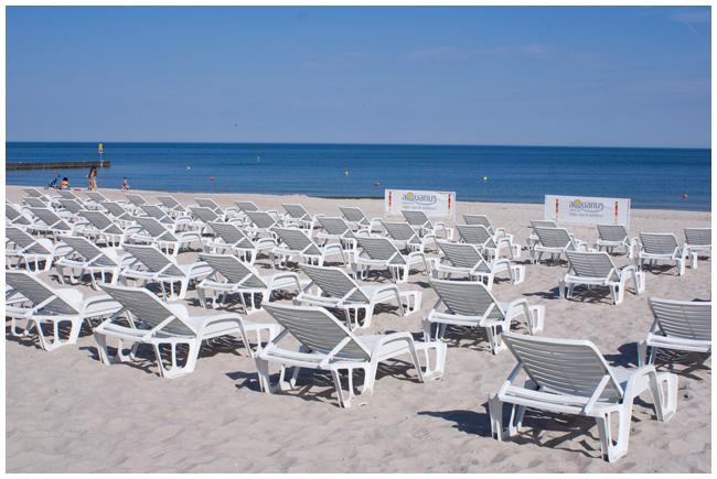 plaża hotelu AQUARIUS SPA