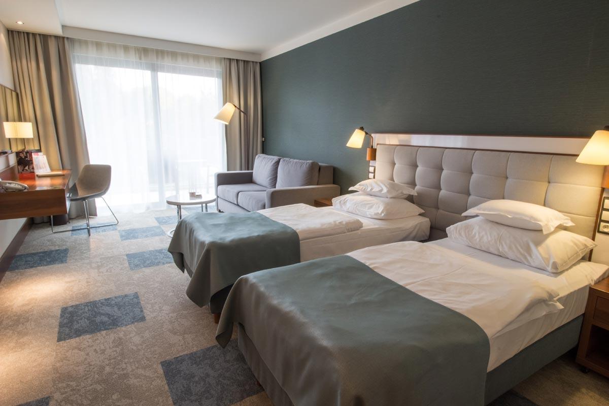 widok nowego pokoju hotelowego 2017