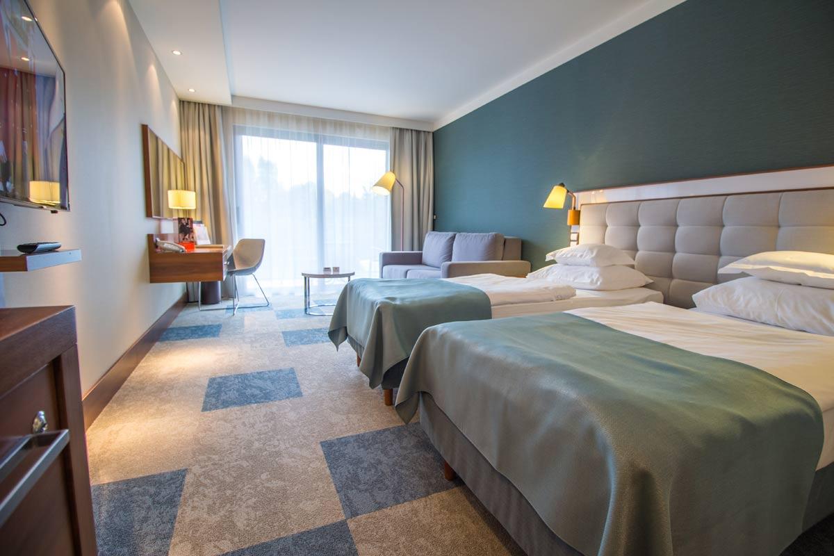wygodne pokoje hotelu AQUARIUS SPA