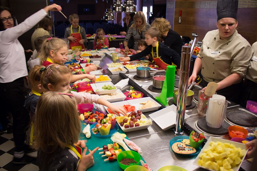 kulinarne zajęcia dla dzieci w hotelu AQUARIUS SPA