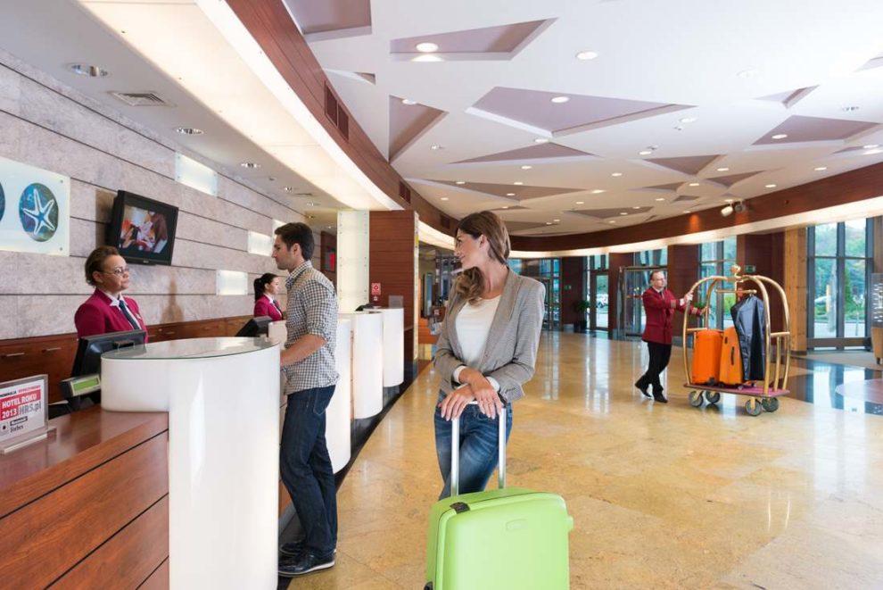 Hol główny hotelu AQUARIUS SPA
