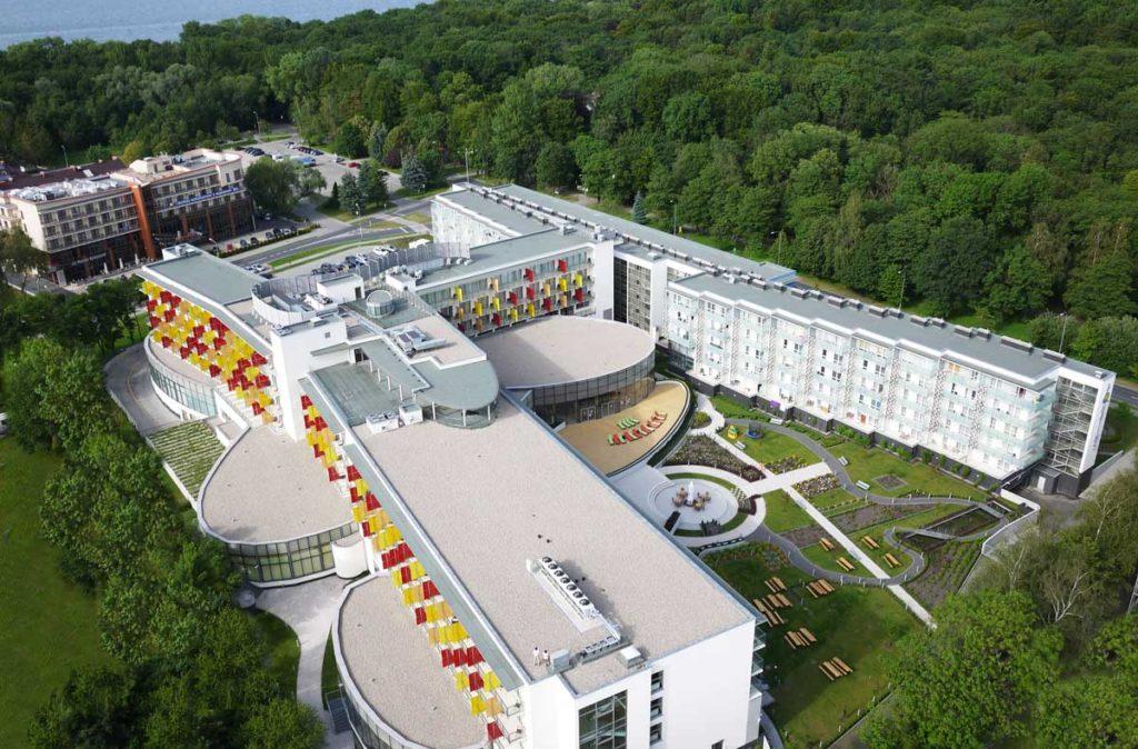 hotel AQUARIUS SPA w Kołobrzegu z lotu ptaka