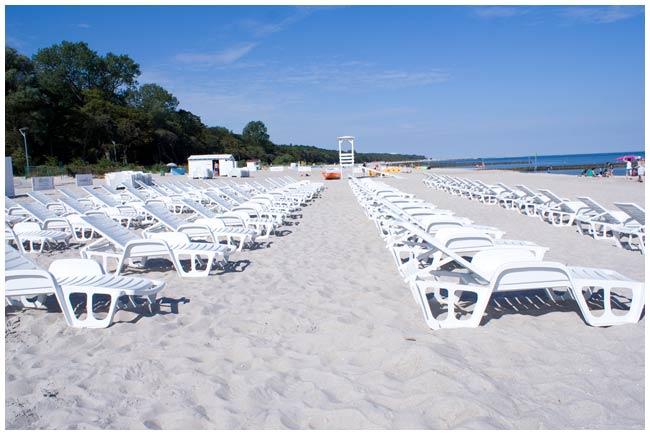 Plaża przy hotelu AQUARIUS SPA