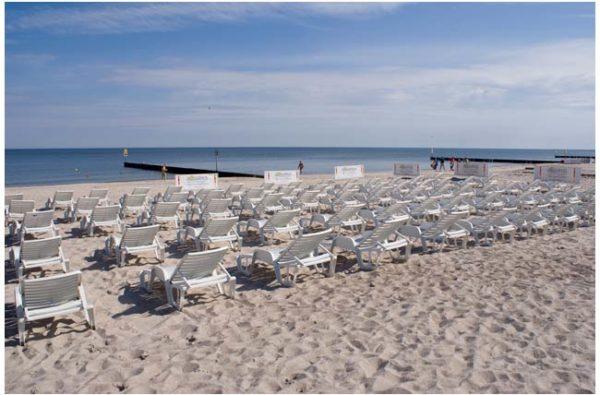 Plaża dla gości hotelu AQUARIUS SPA
