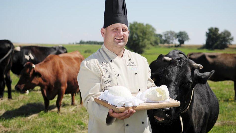 slow food - szef kuchni z serami