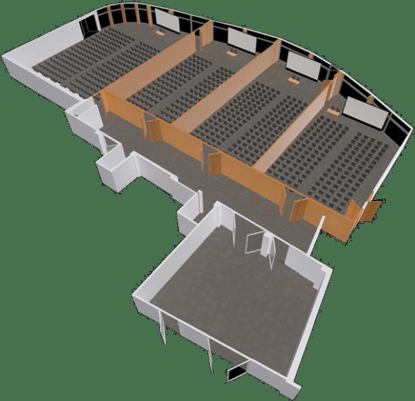 Sala konferencyjna LAGUNA - podział na 4 sale