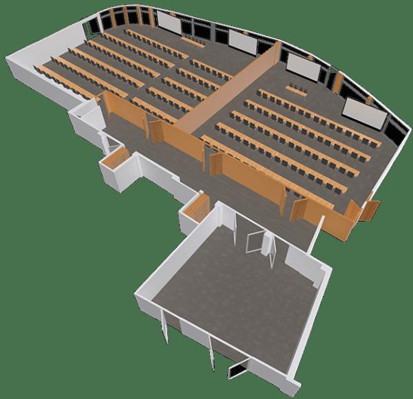 Sala konferencyjna LAGUNA - podzial na dwie sale