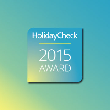 holidayCheck 2015 award dla hotelu AQUARIUS SPA