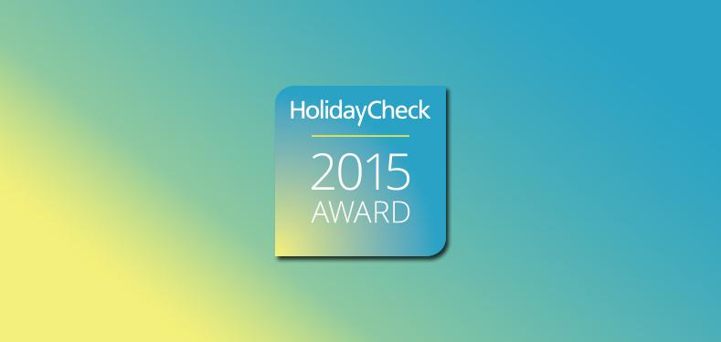 holidayCheck 2015 award dla hotelu AQUARIUS SPA