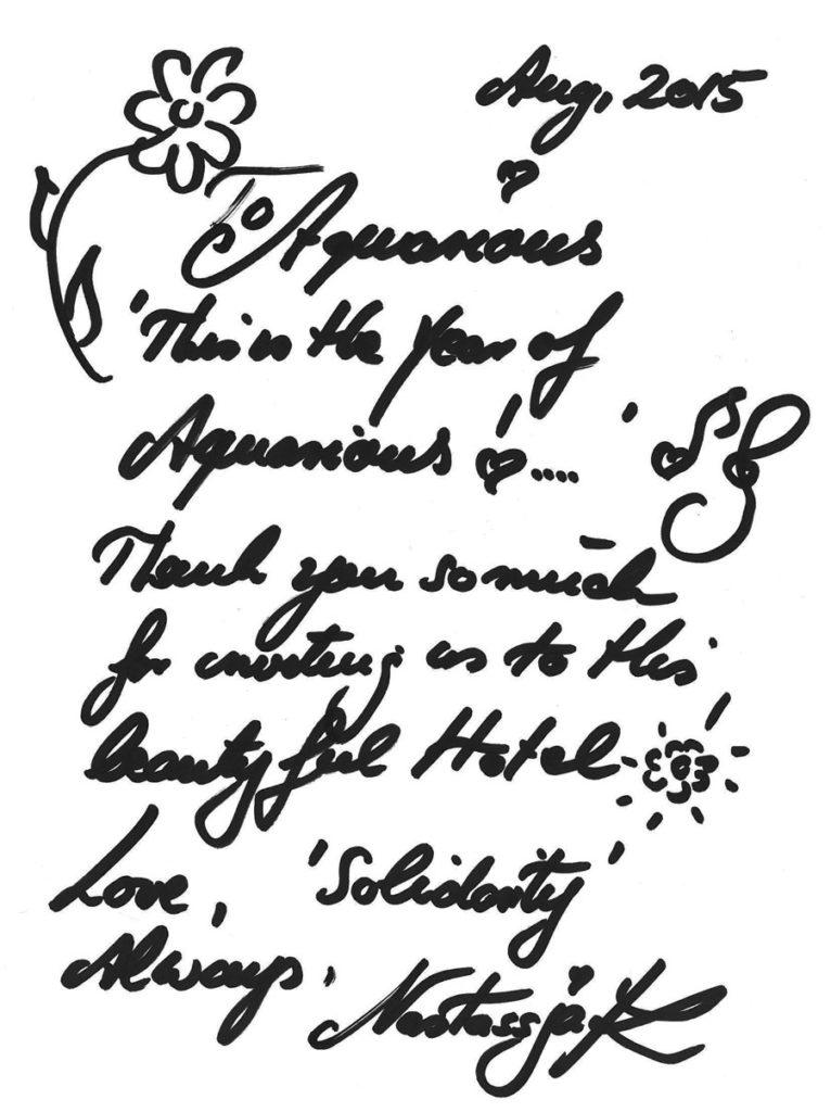 podpis dla hotelu Kinski