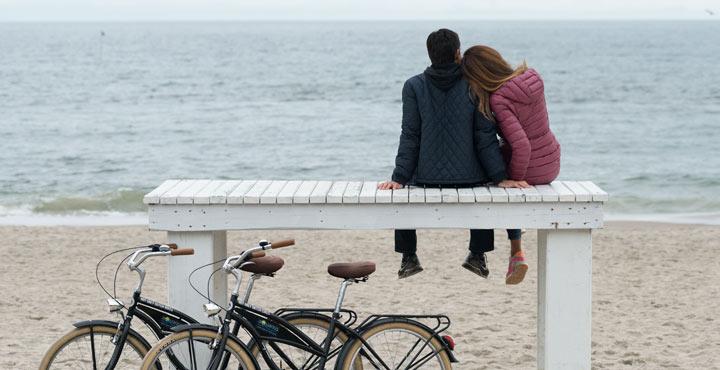 Wypoczynek jesienią nad morzem