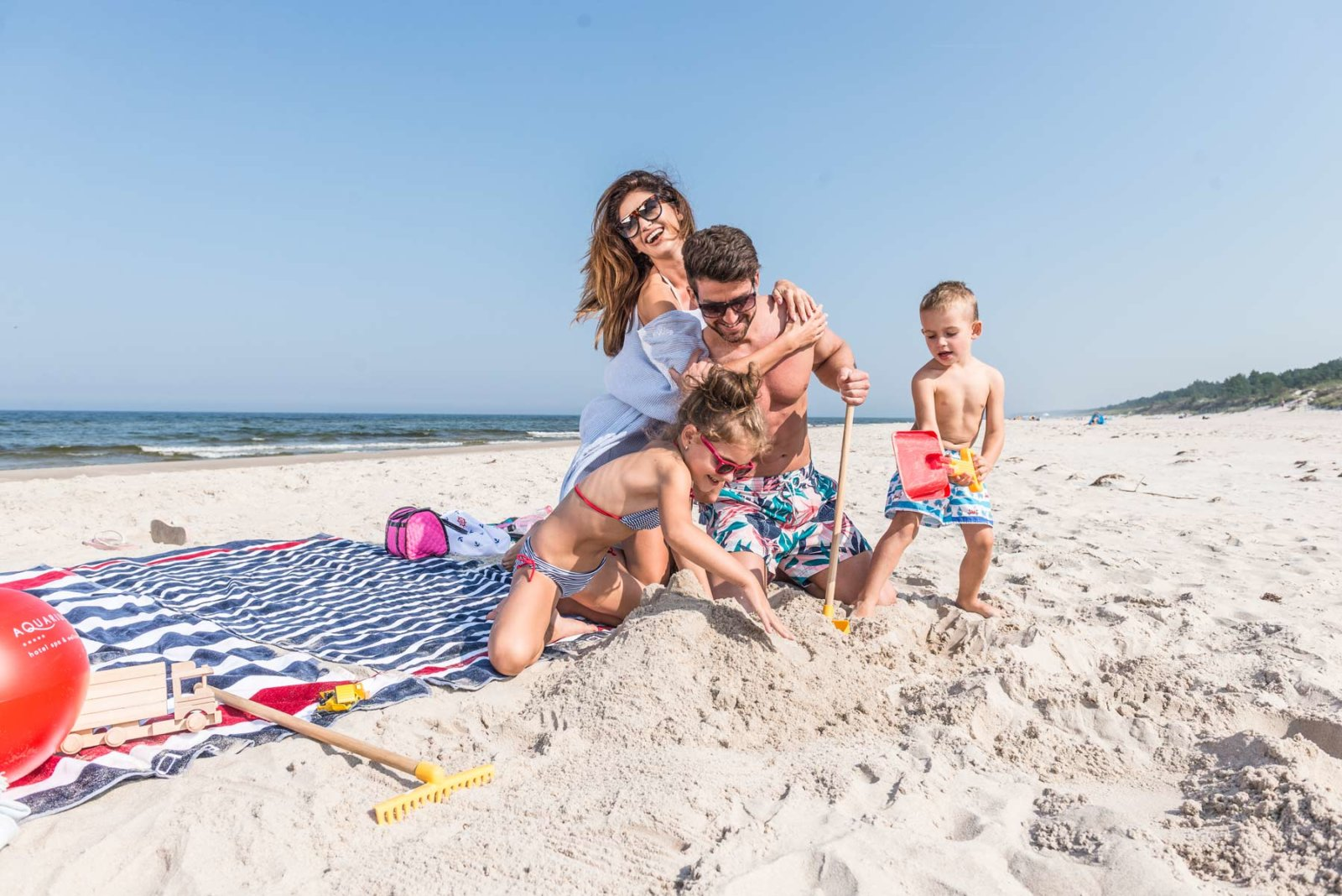 holidays with children at the seaside