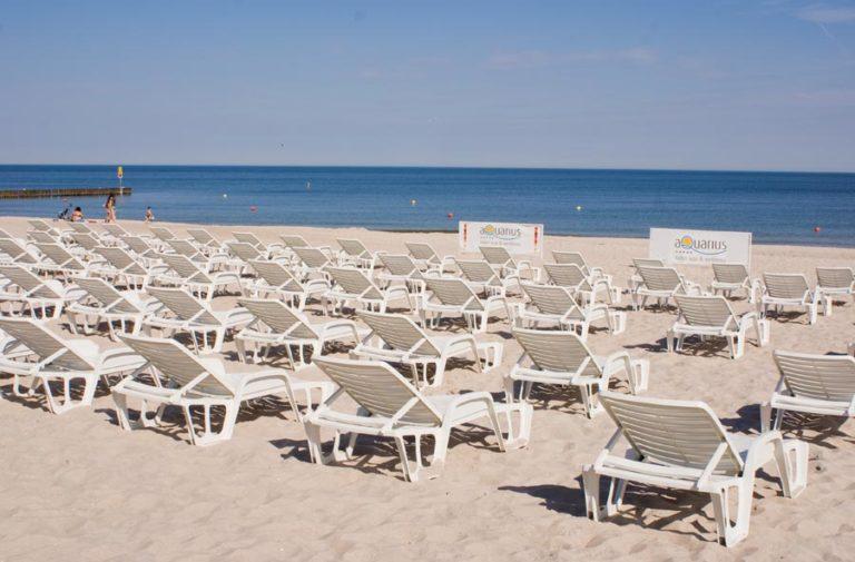Plaża hotelowa na wakacje
