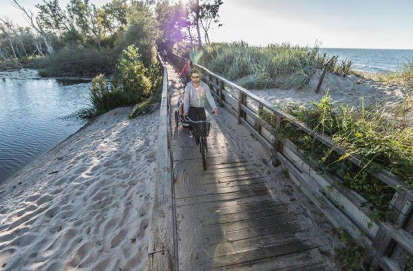 ekopark w Kołobrzegu na rowerze