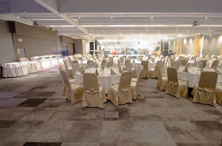 Sala Laguna w ustawieniu bankietowym