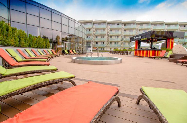 taras słoneczny w Hotelu AQUARIUS SPA
