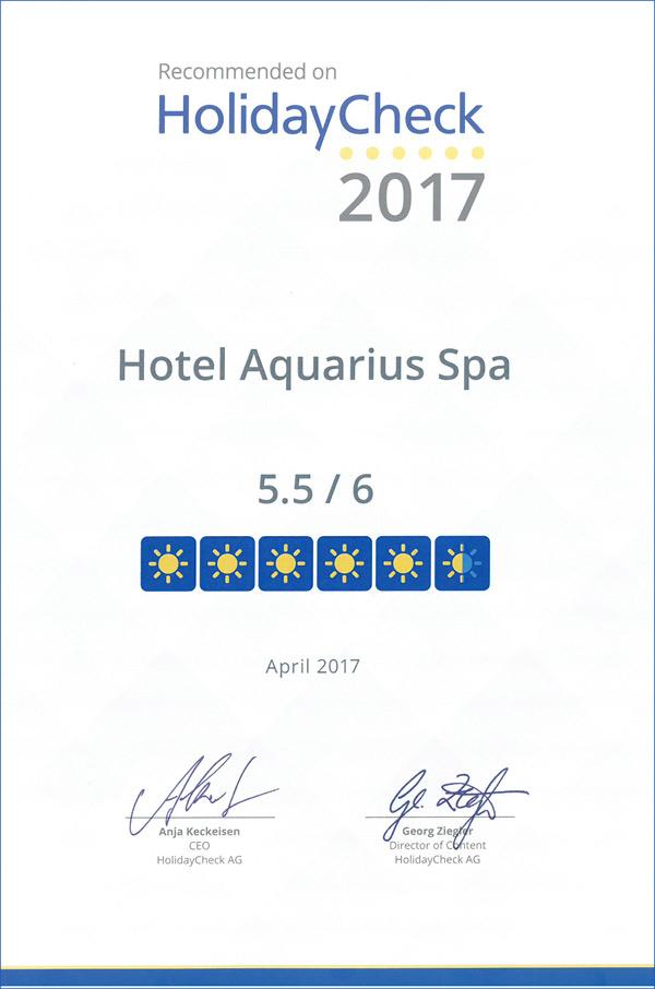 certyfikat HolidayCheck 2017