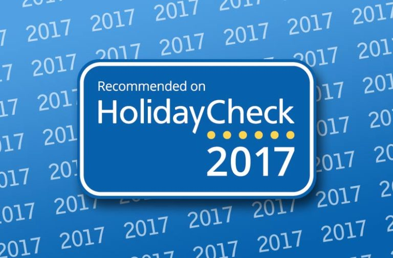 nagroda dla hotelu od holidaycheck 2017