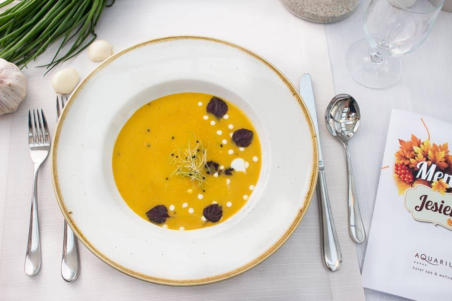 jesienna wkładka do menu restauracji Hotelu AQUARIUS SPA