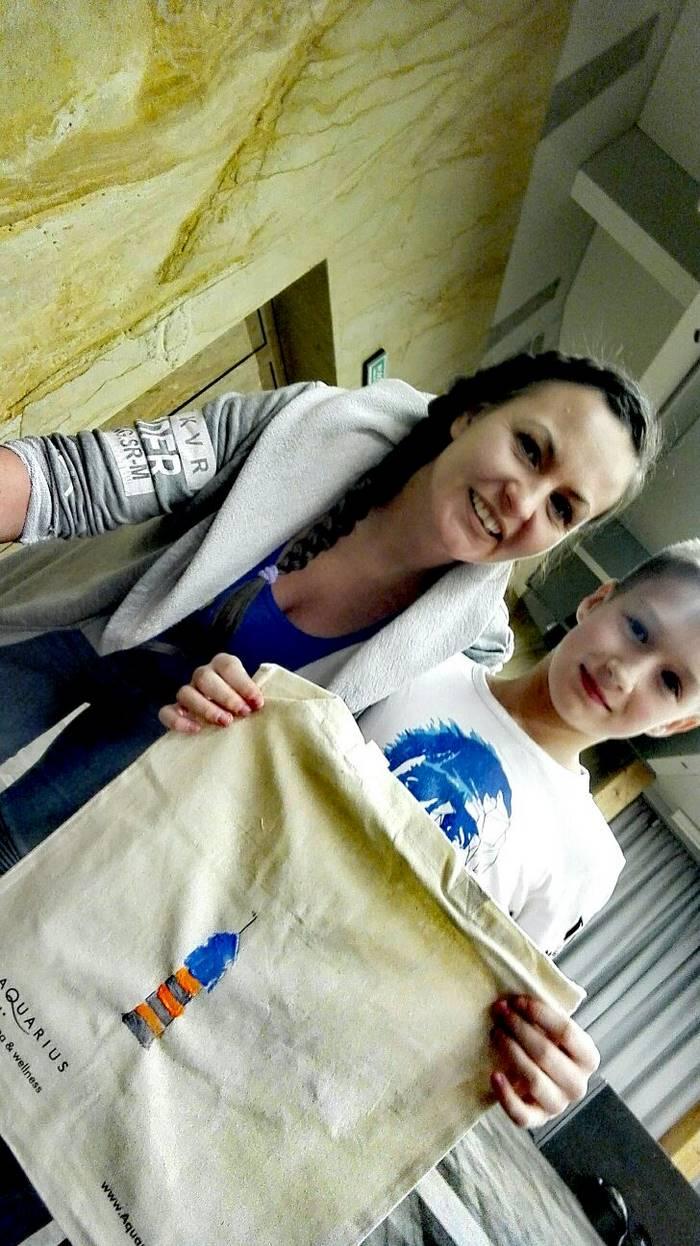 robimy torby z dziecmi
