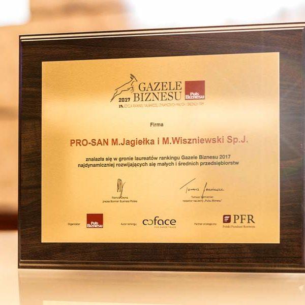 gazele biznesu 2017 dla Hotelu AQUARIUS SPA*****