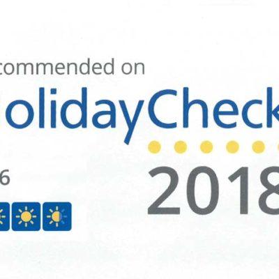 Nagroda HolidayCheck 2018
