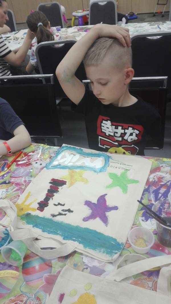 malowanie w hotelu przez dzieci