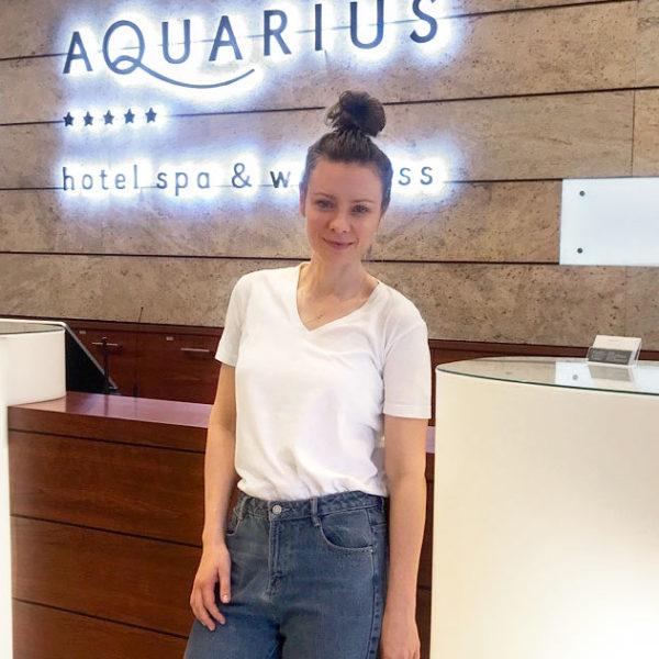 Magdalena Boczarska w hotelu AQUARIUS SPA