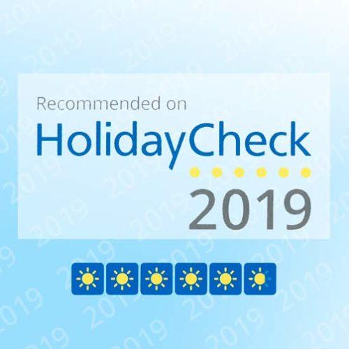 Wyróżnienie HolidayCheck 2019