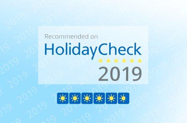 Empfehlung HolidayCheck 2019