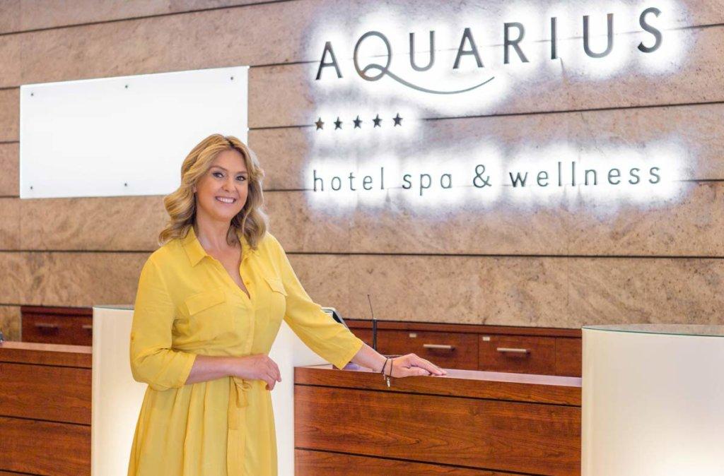 Ewa Wachowicz w hotelu AQUARIUS SPA