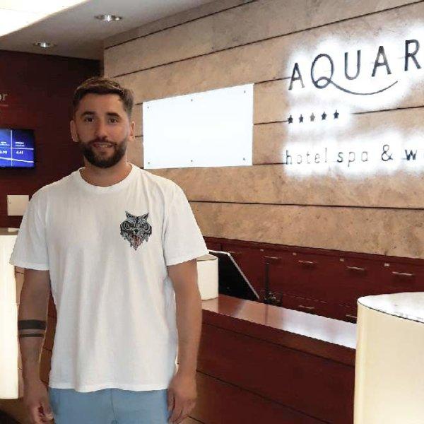 Rafal Maserak w Hotelu AQUARIUS SPA