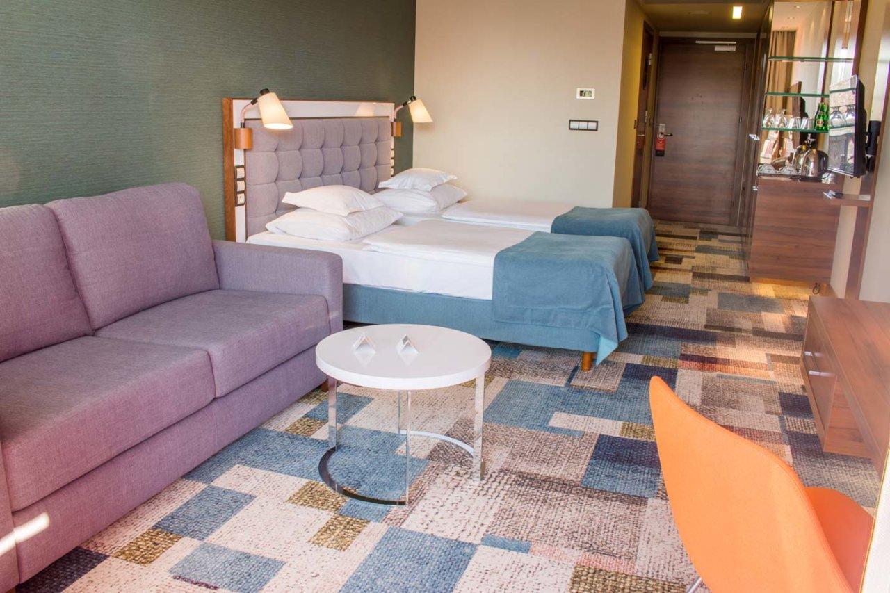 przestronne pokoje hotelu AQUARIUS SPA
