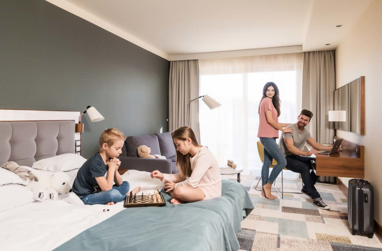 rodzinny pokój w hotelu SPA nad morzem