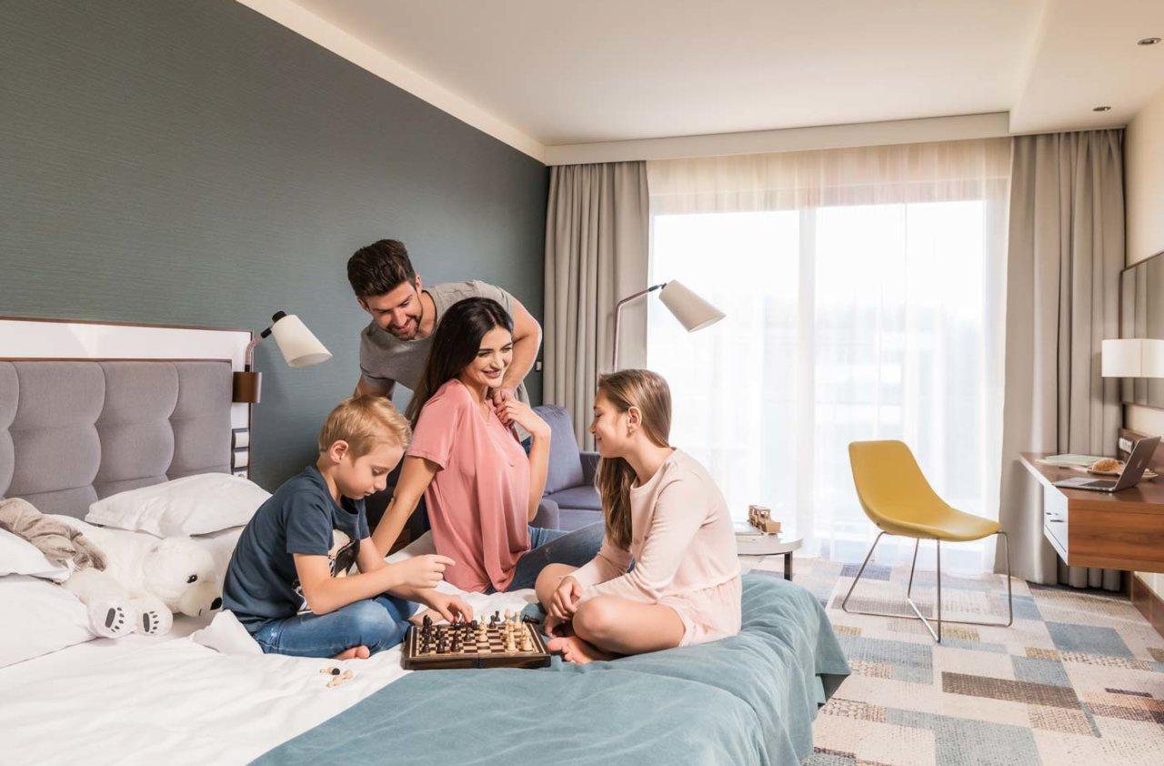 pokój dla rodzin w hotelu nad morzem