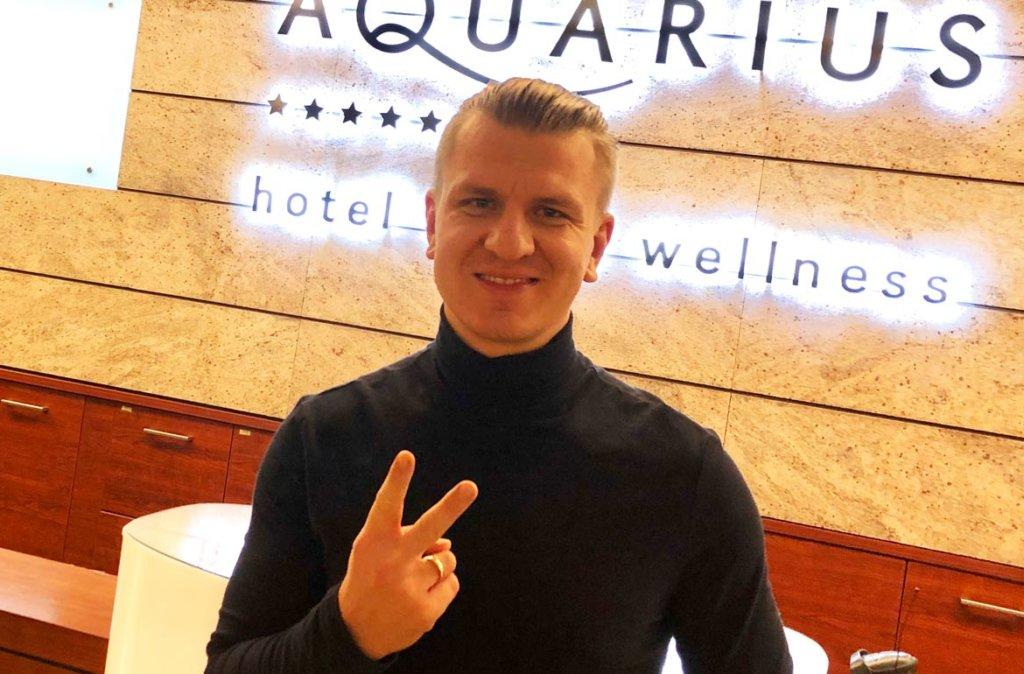 Marcin Nitschke w hotelu AQUARIUS SPA nad morzem