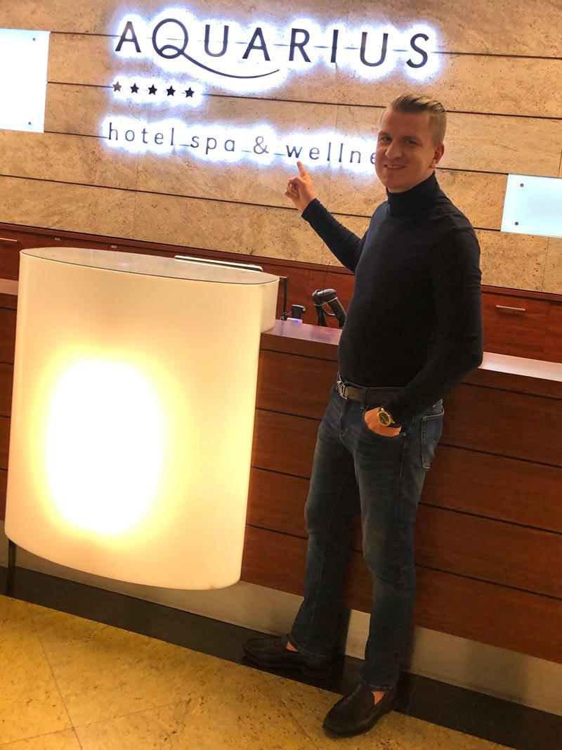 Marcin Nitschke w hotelu AQUARIUS SPA 5* w Kołobrzegu