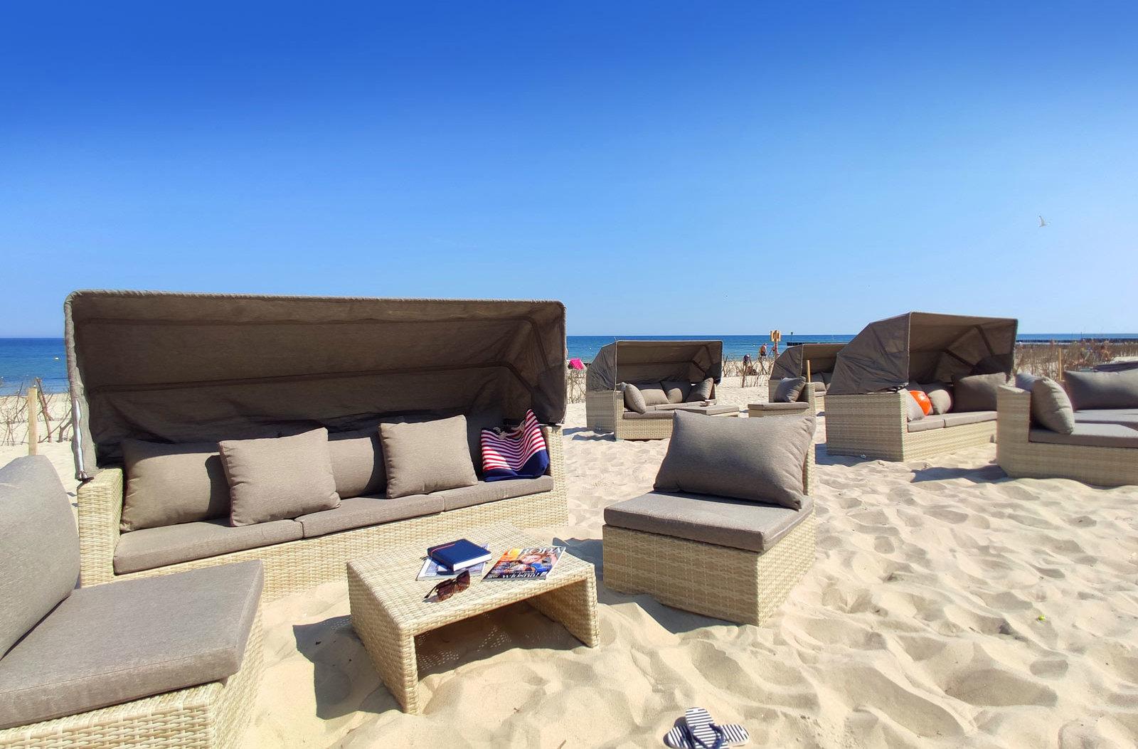 Box na plaży przy hotelu AQUARIUS SPA