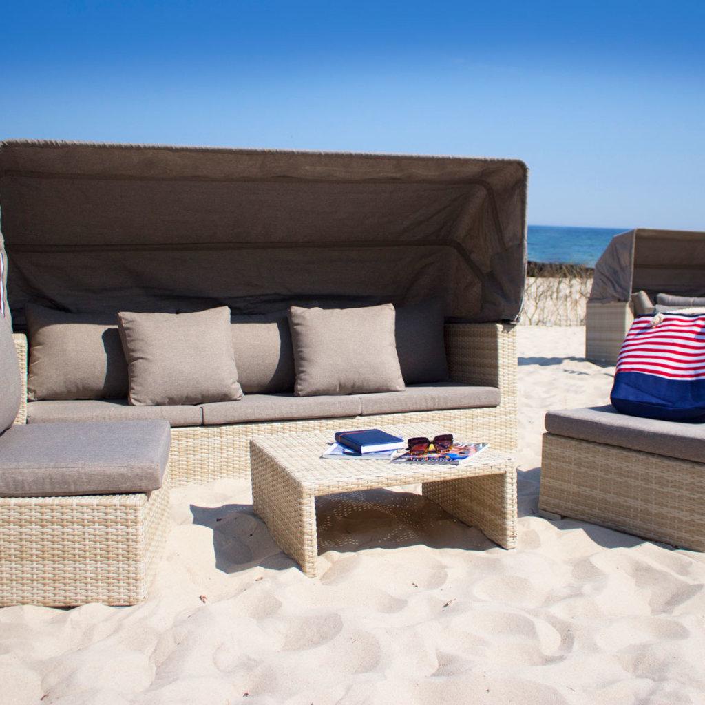 Rodzinny box na plaży przy hotelu AQUARIUS SPA