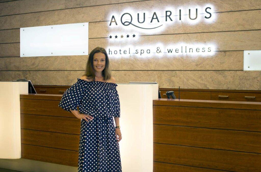 Katarzyna Glinka w Hotelu AQUARIUS SPA w Kołobrzegu